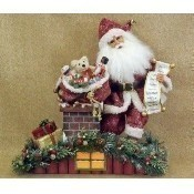 Karen Didion - Lighted Rooftop Santa Thumbnail